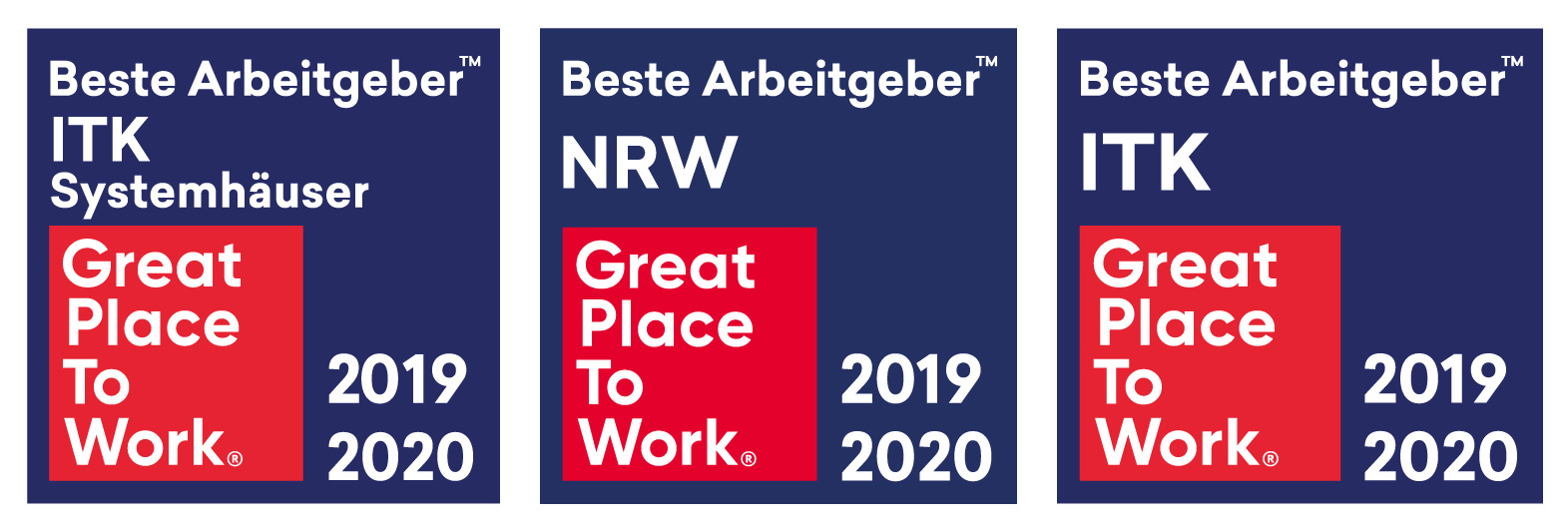 Great Place to Work Beste Arbeitgeber ITK NRW Systemhaus unique projects EDV Service Anbieter | IT | Duisburg