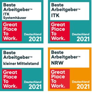 unique projects great place to work logo 2021